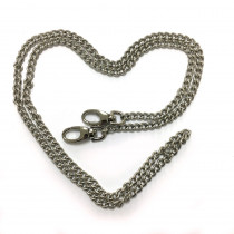 "Emmaline Bags Purse Chain w/ Swivel Snap Hooks Silver 112cm (44"")"