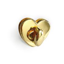 Emmaline Bags Heart Shaped Bag Lock Gold