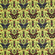 Land Art (insect) Jewels Vert Green By Free Spirit Fabric