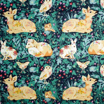 Land Art Mini Enchanted Forest Navy By Free Spirit Fabric