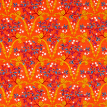 Jardin de la Reine Palace Arcades Hot Orange By Free Spirit Fabric