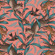 Cat Tales On The Prowl Nectar By Free Spirit Fabric