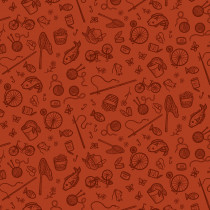 Cat Tales Essential Supplies Rust By Free Spirit Fabric