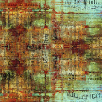 Tim Holtz Eclectic Elements Abandoned Rusted Patina By Free Spirit Fabric
