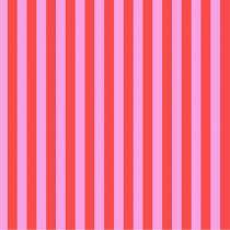 Tula Pink True Colors Tent Stripes Poppy (Light Pink and Red) By Free Spirit Fabric