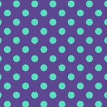 Tula Pink True Colors Pom Poms Pom Poms Iris (Aqua and Dark Purple) By Free Spirit Fabric