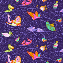 PRE-ORDER Tula Pink Curiouser and Curiouser Sea of Tears Daydream Purple By Free Spirit Fabric