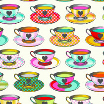 PRE-ORDER Tula Pink Curiouser and Curiouser Tea Time Sugar Cream By Free Spirit Fabric