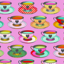PRE-ORDER Tula Pink Curiouser and Curiouser Tea Time Wonder Pink By Free Spirit Fabric