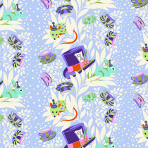 PRE-ORDER Tula Pink Curiouser and Curiouser 6pm Somewhere Daydream Purple By Free Spirit Fabric