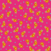 PRE-ORDER Tula Pink Curiouser and Curiouser Baby Buds Wonder Pink By Free Spirit Fabric