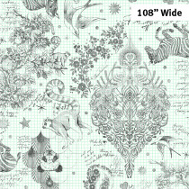 """Tula Pink Linework Sketchyer Paper 108"""" Backing Fabric by Free Spirit Fabrics"""