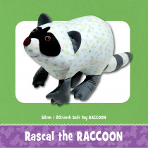 Rascal the Raccoon Soft Toy Sewing Pattern by Funky Friends Factory