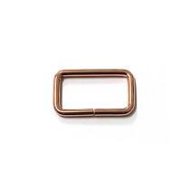 "Voodoo Bag Hardware Rectangular Rings 40mm (1-1/2"") Copper - 4 pk"