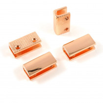 "Emmaline Bags Strap End Cap Rectangular 20mm (3/4"") Copper - 4pk"