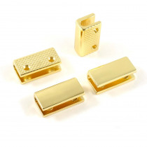 "Emmaline Bags Strap End Cap Rectangular 20mm (3/4"") Gold - 4pk"