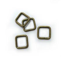 "Voodoo Bag Hardware Rectangular Wire Rings 12mm (1/2"") Antique Brass - 4 pk"