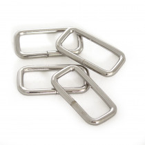 "Rectangular Wire Rings 31mm (1-1/4"") Silver - 4 pk"