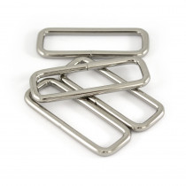 "Voodoo Bag Hardware Rectangular Wire Rings 50mm (2"") Silver - 4 pk"