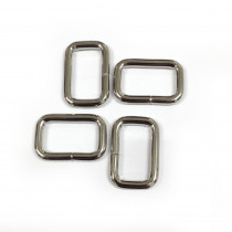 "Voodoo Bag Hardware Rectangular Wire Rings 20mm (3/4"") Silver - 4pk"