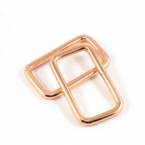 "Emmaline Bags Rectangular Rings 40mm (1-1/2"") Copper (Rose Gold) - 4pk"