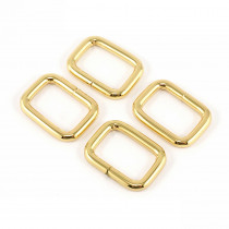 "Emmaline Bags Rectangular Rings 20mm (3/4"") Gold - 4pk"