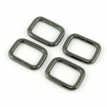 "Emmaline Bags Rectangular Rings 20mm (3/4"") Gunmetal - 4pk"