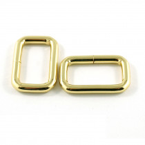 "Emmaline Bags Rectangular Rings 25mm (1"") Gold - 4pk"