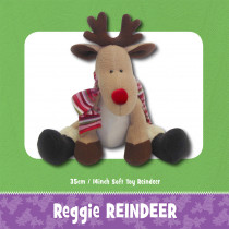 Reggie Reindeer Soft Toy Sewing Pattern by Funky Friends Factory
