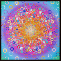 "Effervescence Bubble Pastel 108cm (42.5"") Fabric Panel by Robert Kaufman Fabric"