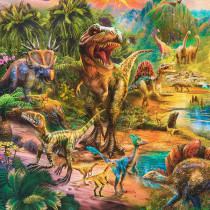 "Picture This Dinosaurs 91cm (36"") Fabric Panel by Robert Kaufman Fabric"