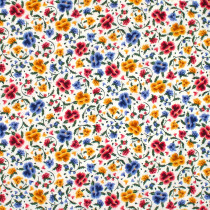 Frida Kahlo Floral White by Robert Kaufman Fabric