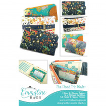The Road Trip Wallet Sewing Pattern by Emmaline Bags