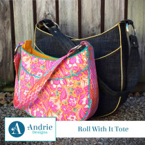 Roll With It Tote Sewing Pattern by Andrie Designs