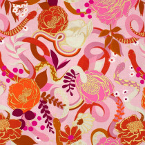 Ruby Star Society Rise Dream (Flowers and Snakes) Peony by Moda Fabrics
