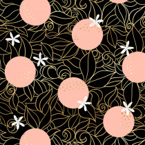 Ruby Star Society Florida Orange Blossoms Black by Moda Fabrics