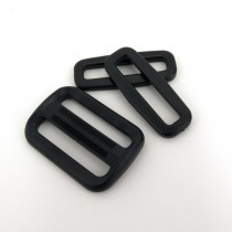 "Voodoo Bag Hardware Plastic Satchel Set 38mm (1-1/2"") Black"