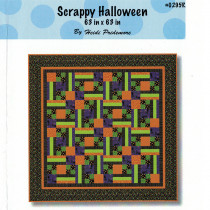 Scrappy Halloween Quilt Sewing Pattern from The Whimsical Workshop