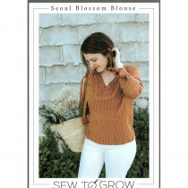 Seoul Blossom Blouse Sewing Pattern by Sew To Grow