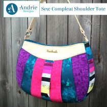 Sew Compleat Shoulder Tote Sewing Pattern by Andrie Designs