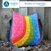 Shades of Yesterday Tote Bag Sewing Pattern by Andrie Designs (formally Two Pretty Poppets)