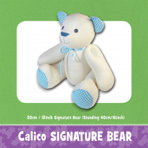 Calico Signature Bear Soft Toy Sewing Pattern by Funky Friends Factory