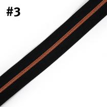 "Voodoo Bag Hardware (Size #3) Handbag Zipper Black Tape with Copper Teeth 3m (157"") No Pulls"