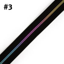 "Voodoo Bag Hardware (Size #3) Handbag Zipper Black Tape with Iridescent Rainbow Teeth 3m (157"") No Pulls"