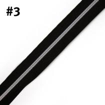 "Voodoo Bag Hardware (Size #3) Handbag Zipper Black Tape with Silver Teeth 3m (157"") No Pulls"