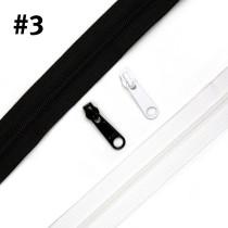 "Voodoo Bag Hardware YKK (size #3) Handbag Zipper 4m (157"") with 16 pulls"