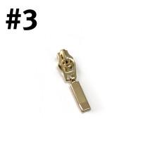 #3 Zipper Head Rectangle Drop Gold