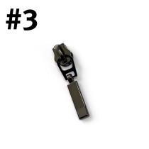 #3 Zipper Head Rectangle Drop Gunmetal