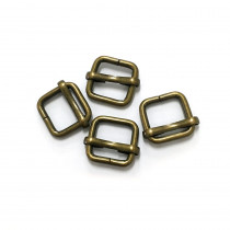 "Voodoo Bag Hardware Slide Adjusters 12mm (1/2"") Antique Brass - 4pk"