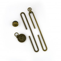 "Studio Mio Slide Clasp with Magnetic Snap 10cm (4"") Antique Brass"
